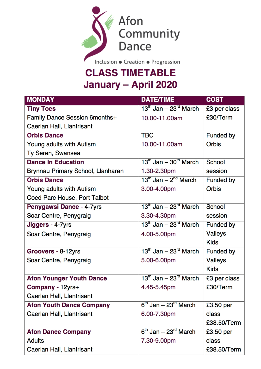 timetable website